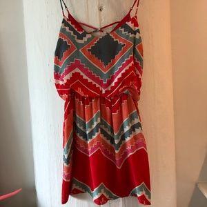 Myne Aztec print dress